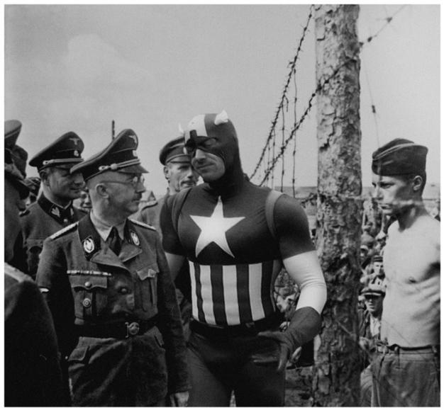 capitan america fotomontaje  vintage