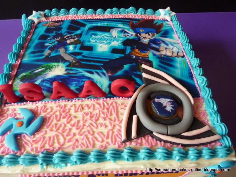 Cakes2share Singapore Metal Fight Beyblade 2d Cake With