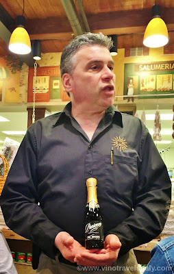 Wine Director Joe Comforti Tuscan Kitchen with Zonin Prosecco