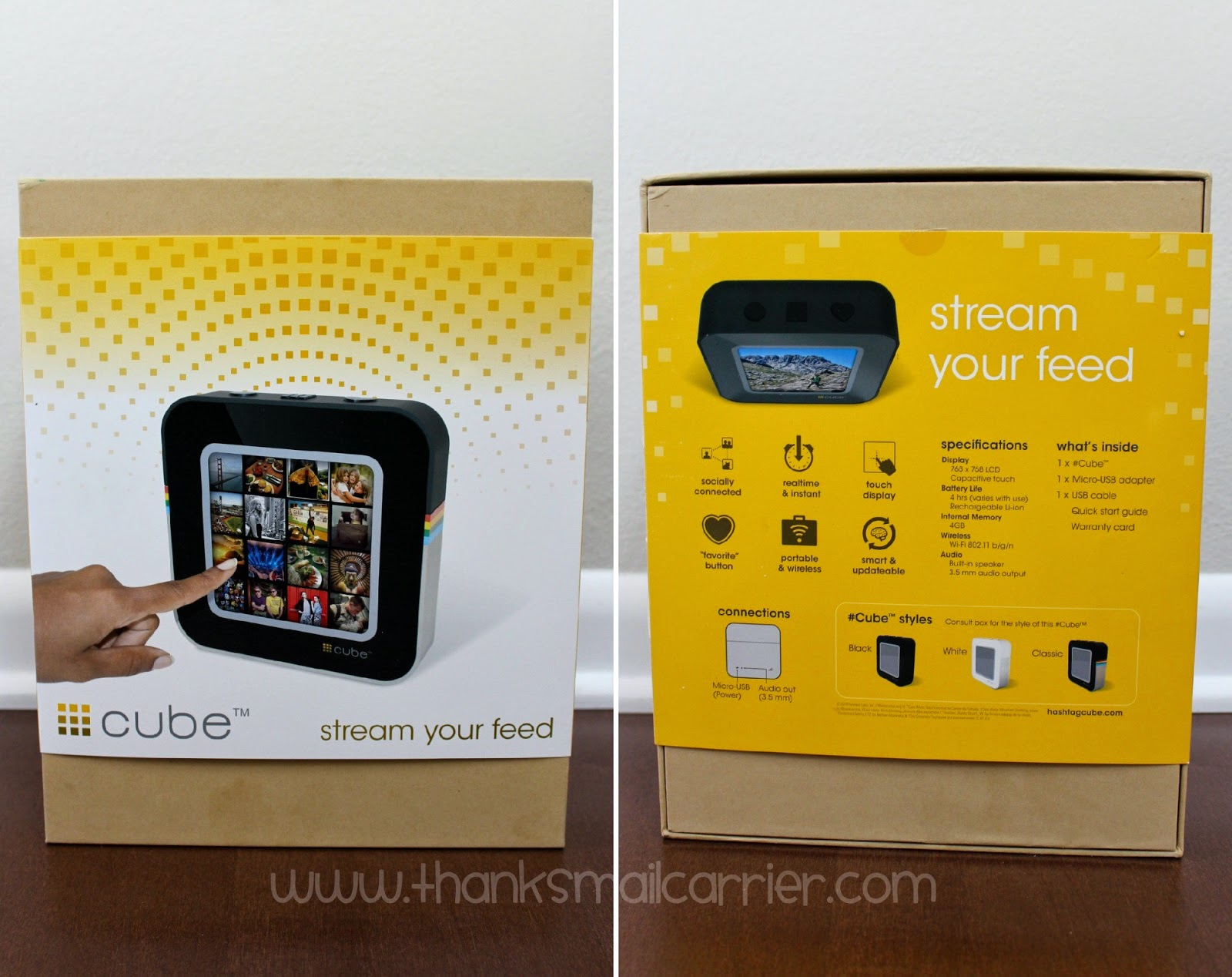 Thanks, Mail Carrier | #Cube, the Digital Wi-fi Touchscreen Photo