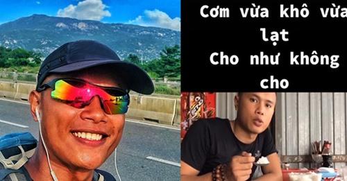 Chàng trai đi bộ xuyên Việt với 0 đồng gây tranh cãi vì lỡ nhận xét cơm xin được khó ăn, cho như không cho