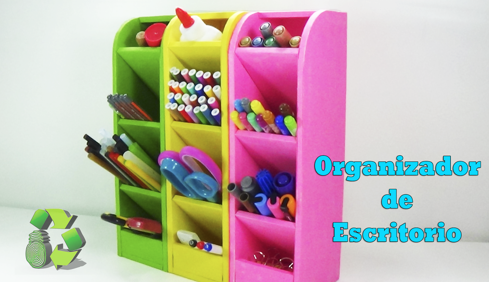 Ecobrisa manualidades organizador de escritorio reciclado - Organizador de escritorio ...