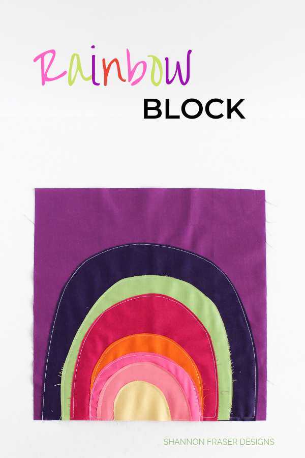 Rainbow Block based on Jessica Swift Artwork | Shannon Fraser Designs #rainbow #quilting
