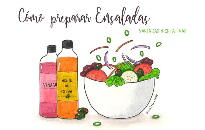Cómo preparar ensaladas variadas y creativas