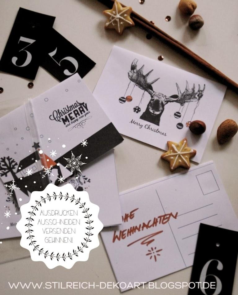 Grosse adventsverlosung bei stilreich postkarten freebie s t i l r e i c h blog - Stilreich blog ...