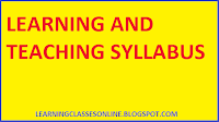 learning and teaching bed syllabus and curriculum for b.ed first and second year