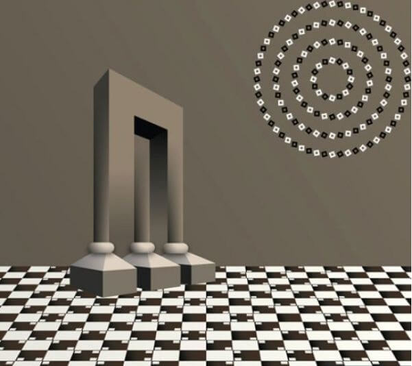 3 Optical Illusions in one Picture