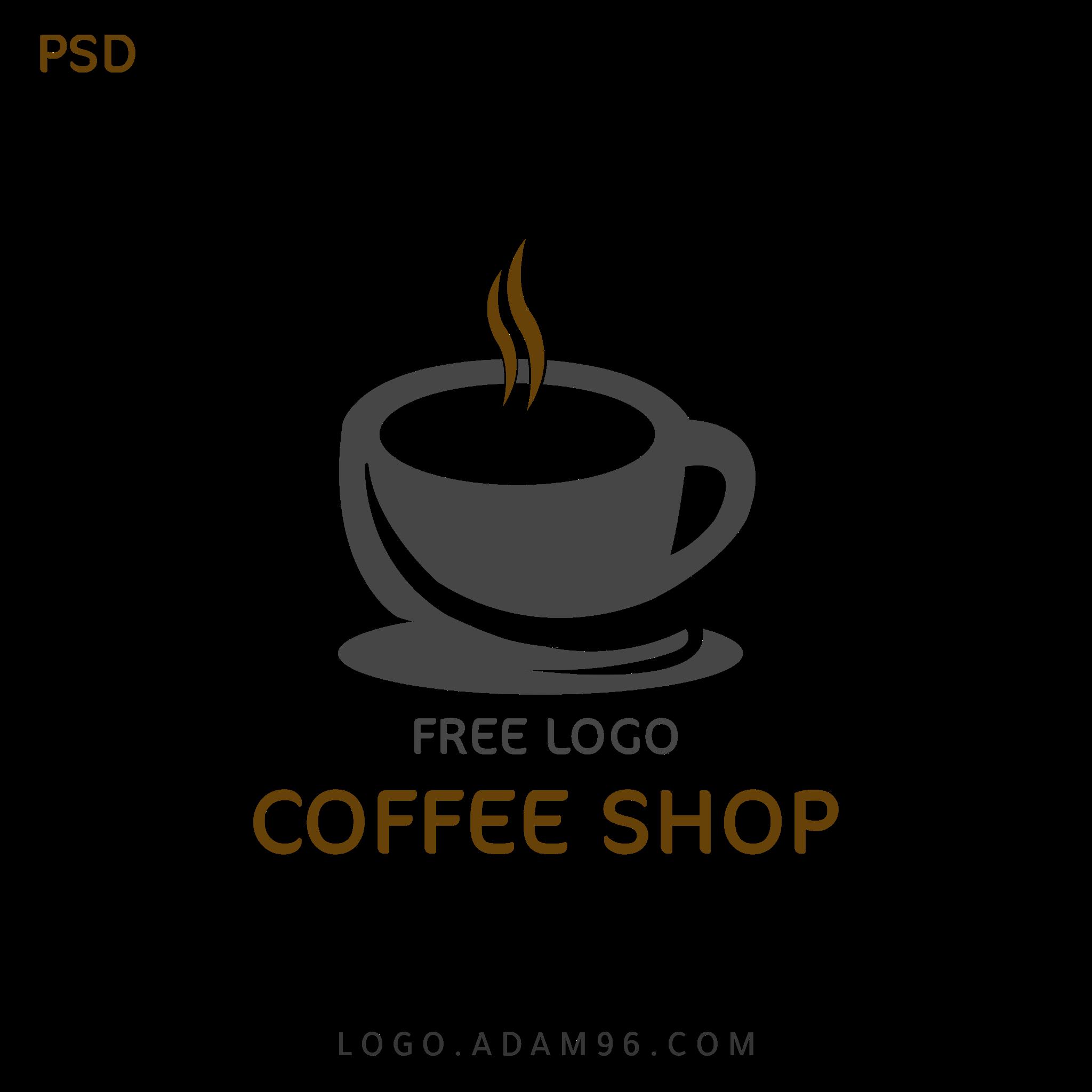 تحميل شعار كوفي شوب بلا حقوق لوجو عالي الدقة Logo Coffee Shop PSD