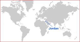 Gambar Peta letak Yordania
