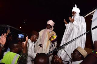 VIDEO: Dethroned Emir, Sanusi Arrives Lagos