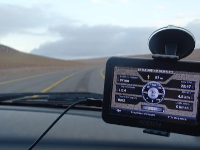 GPS em aluguel de carro em El Calafate