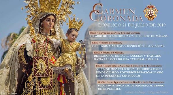 Asi será el dia de la Procesión del Carmen del Perchel