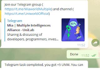 Uniwold telegram