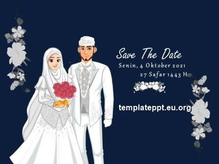 Slide 2 template power point undangan pernikahan islami gratis