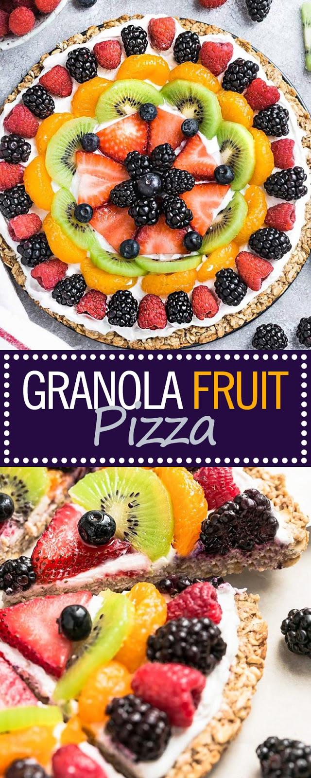 GRANOLA FRUIT PIZZA