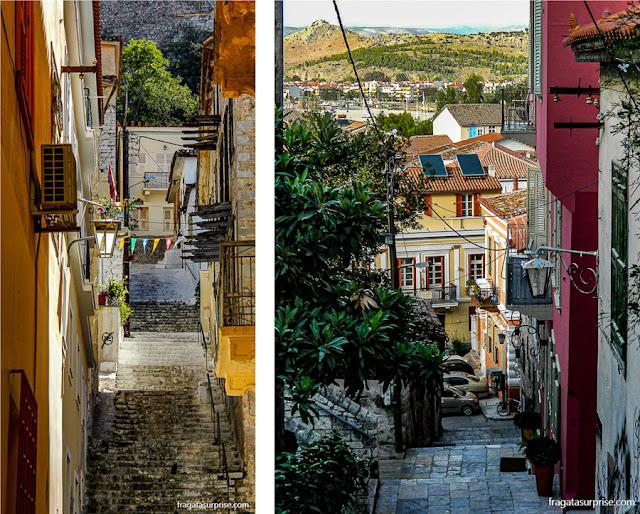 Rua do Centro Histórico de Nafplio, Grécia