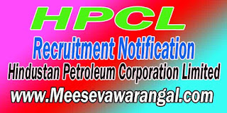 HPCL (Hindustan Petroleum Corporation Limited) Recruitment Notification 2016
