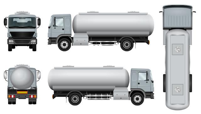 Plantilla De Camiones De Trabajo. free vector