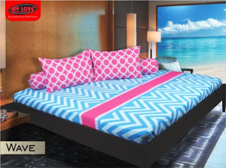 sprei my love motif wave