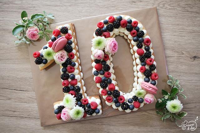 Number Cake Fruits Rouges 10 ans Recette Facile Rapide Pas chère Idée Mûre Myrtille Framboise Cuisine Addict Cuisineaddict Une Graine d'Idée