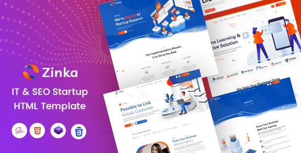 Best IT & SEO Startup HTML Template