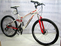 2 Sepeda Gunung Pacific Emerson 606 Full Suspension 21 Speed Shimano 26 Inci