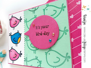 Little birdies CAS-ual Fridays, birthday card, water colouring, heat embossing, quillish, cards on line, handmade cards, easy diy card, cardmaking, cardmaker, CAS-ual fridays , cards by ishani
