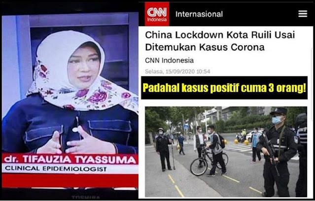 China Lockdown Kota Ruili Usai Ditemukan 3 Kasus Corona, dr. Tifa: Negara Komunis Tapi Menerapkan Sabda Nabi, Bagaimana dengan Negara Pancasila?