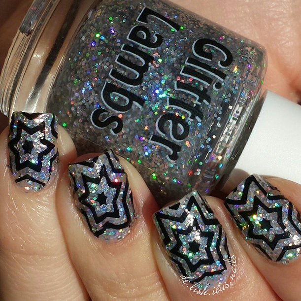 "Glitter Lambs ""Robots For Sale""  Glitter Topper Nail Polish"