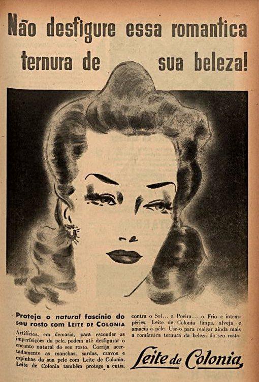 Propaganda antiga do Leite de Colônia promovendo a qualidade do produto em 1942