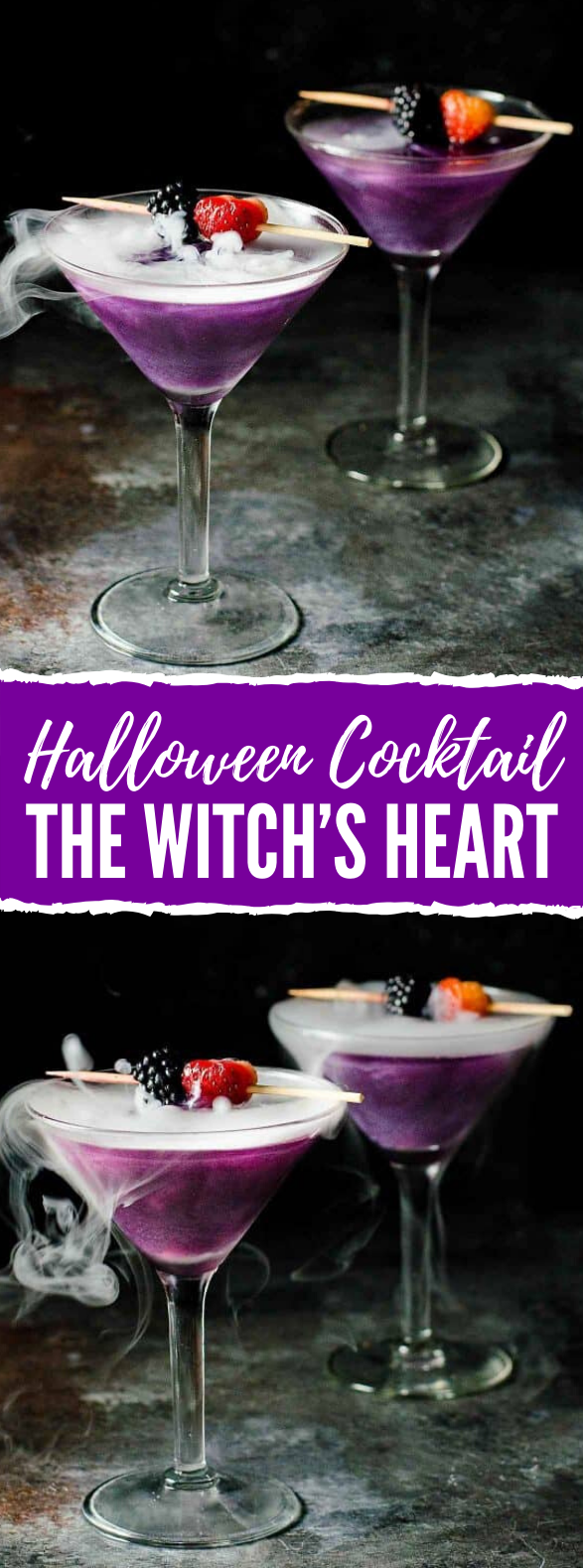 The Witch's Heart – Halloween Cocktail #drinks #easytomake