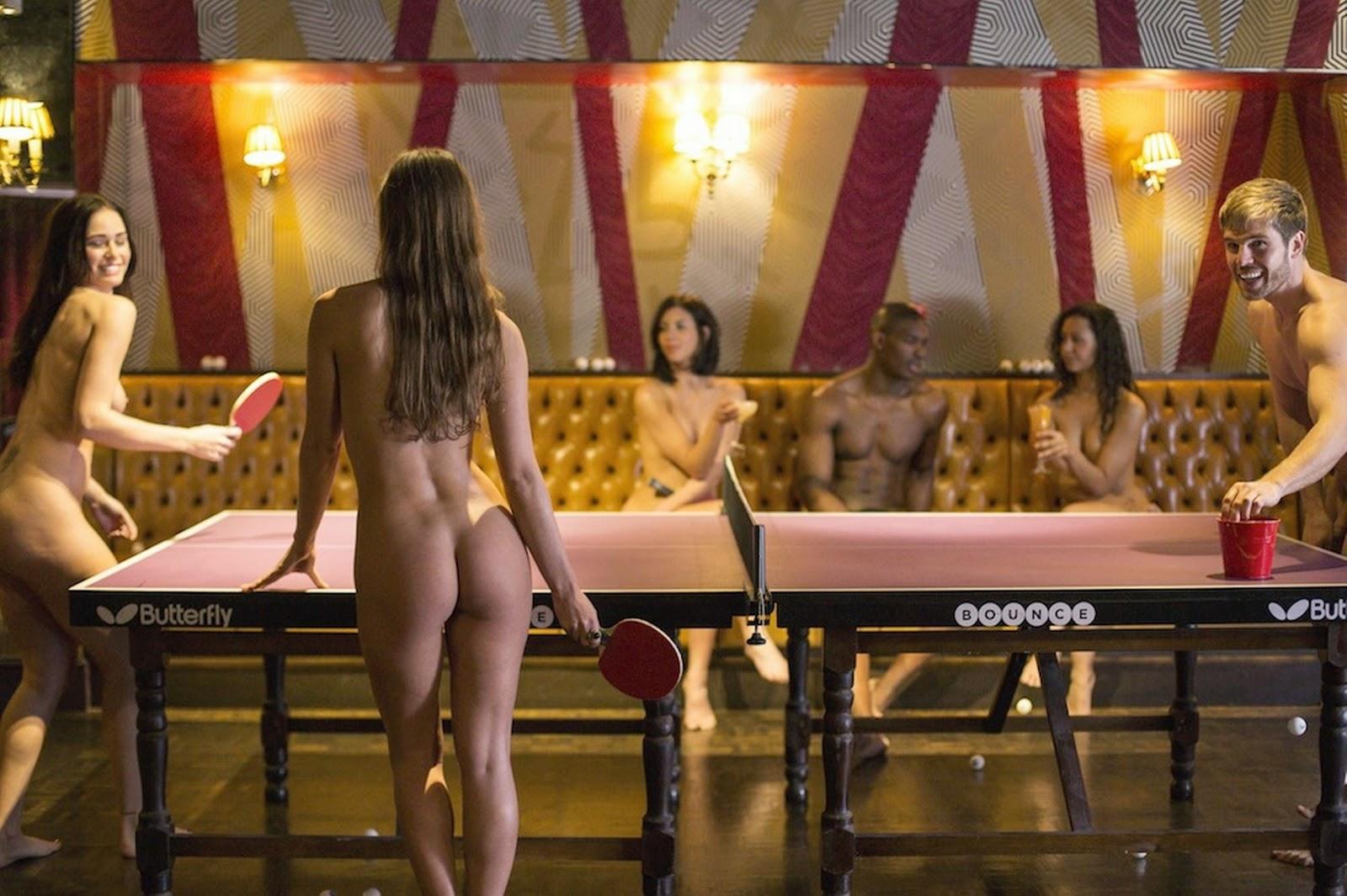Naked ping pong