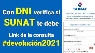 LINK 2021 de Devolución del IGV de SUNAT consulta con tu DNI hoy