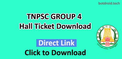 tnpsc group 4 hall tickect 2019 download