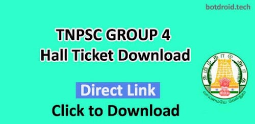 TNPSC Group 4 Hall Ticket 2019 Released Download Now