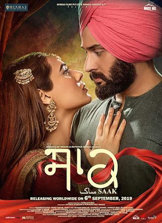 Poster Of Pollywood Movie Saak 2019 300MB HDRip 480P Full Punjabi Movie