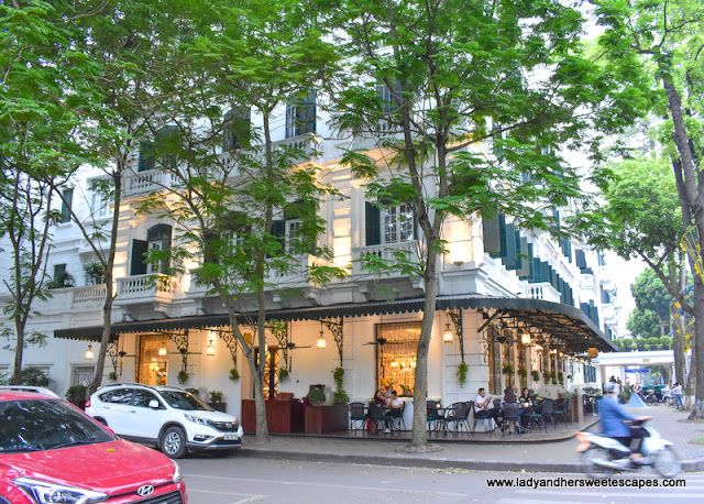 a Parisian-style cafe at Sofitel Legend Metropole Hanoi