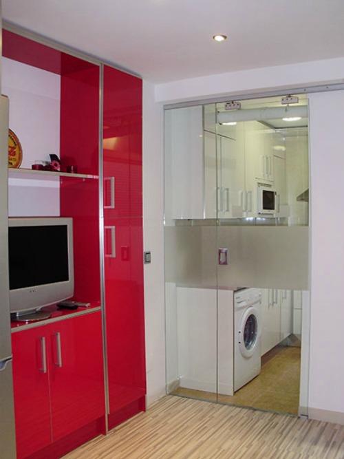 gallery of puerta corredera cristal cocina with puerta corredera cristal cocina - Puertas Correderas De Cristal Baratas
