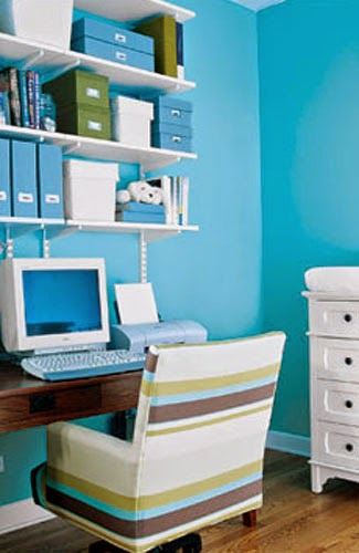 Blue Workspace Interior