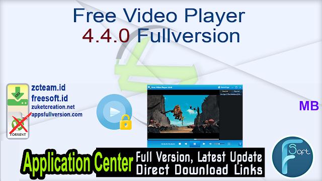 Free Video Player 4.4.0 Fullversion