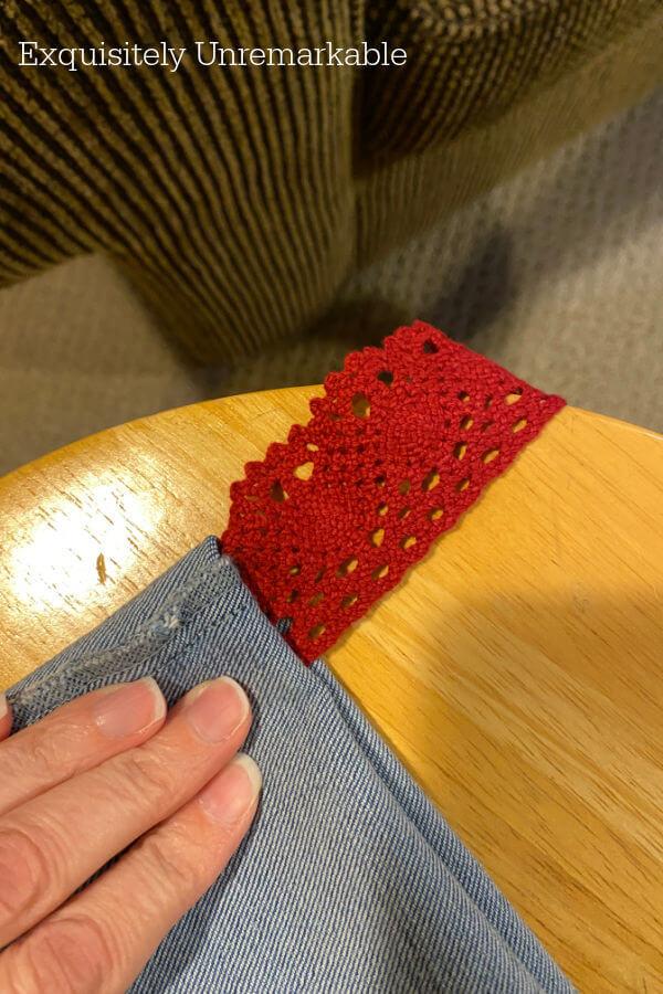 Sew Ribbon Handle Onto Bag