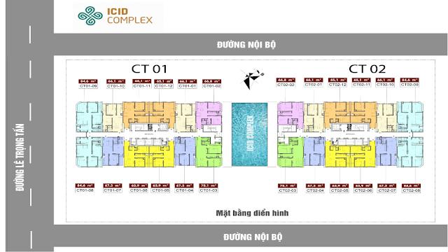 Mặt bằng tổng thể chung cư Icid Complex