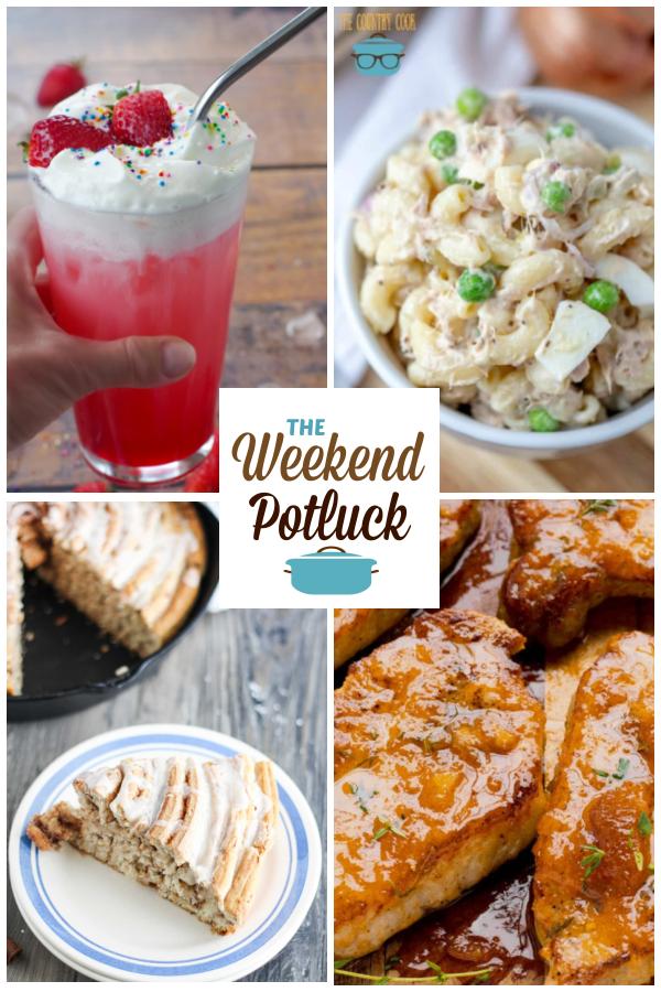 A virtual recipe swap with Strawberry Italian Soda, Tuna Macaroni Salad, Giant Skillet Cinnamon Roll, Steakhouse Pork Chops and dozens more!