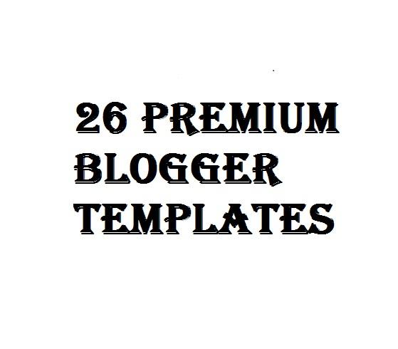 26 Premium Blogger Templates Free Download 2020