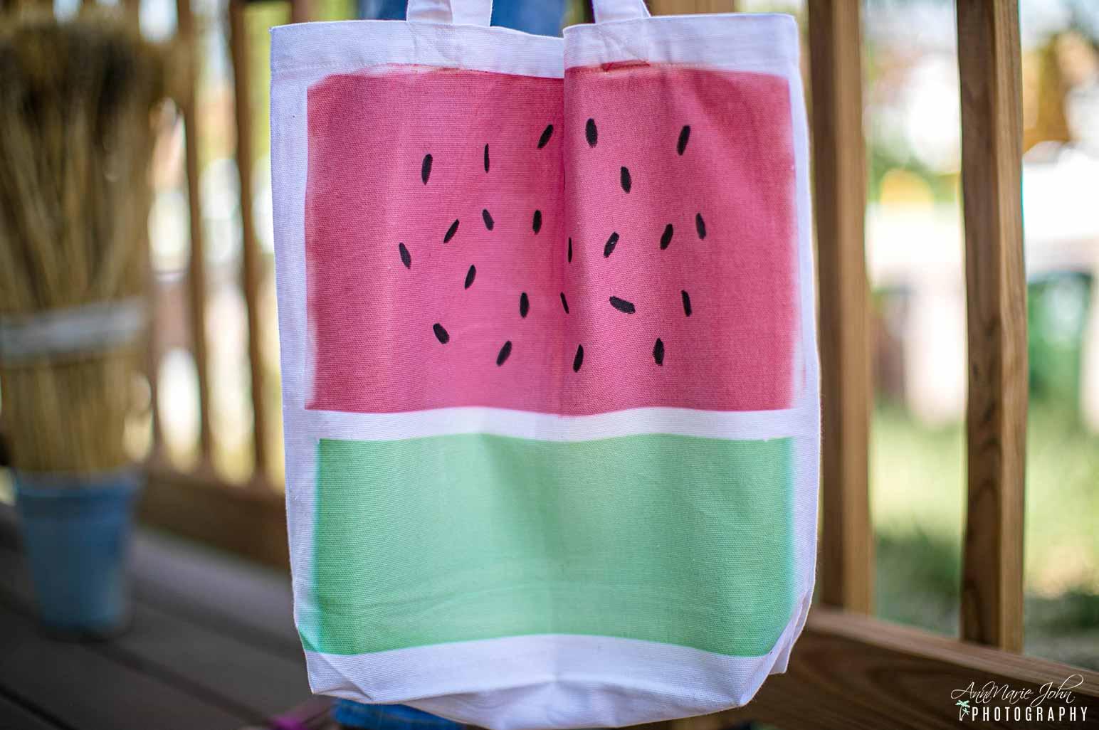 DIY Watermelon Tote
