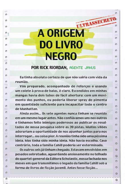 News: O Livro Negro, The 39 Clues. 19