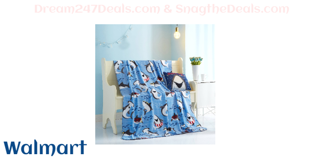 Shark Plush Pillow & Throw Combo for Kids by Your Zone