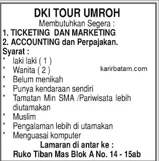 Lowongan Kerja DKI Tour Umroh Tiban - Batam