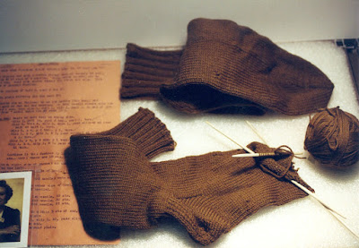 Unfinished-pair-of-socks-from-World-War-II