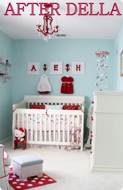 quarto bebe menina vermelho